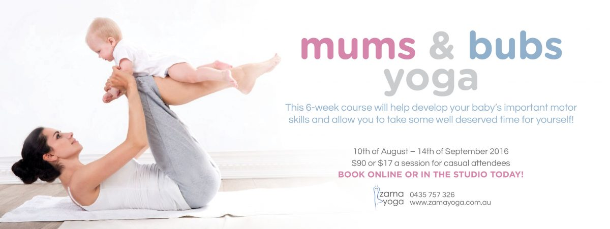 Mums and bubs yoga (Facebook Event Cover)